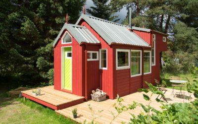 The NestHouse™ tiny house designed and built by Jonathan Avery of Tiny House Scotland, Linlithgow UK.